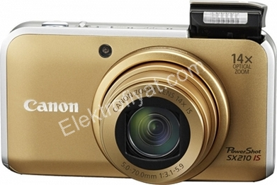 Canon SX210 IS PowerShot CCD 14.1 Mp 0.21 kg Kompakt Dijital Fotoğraf Makinesi